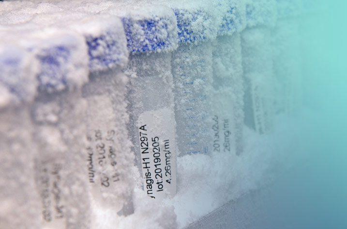 frozen vials